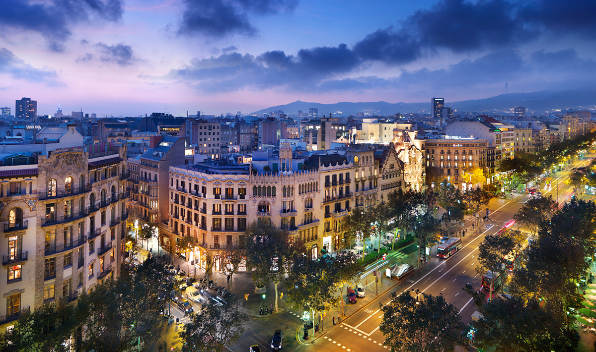 Barcelona is a beautiful city day and night