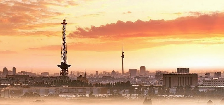 Berlin in the sunset